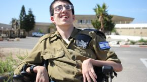 Although wheelchair-bound, 23-year-old Roy Shifman achieved his dream of joining the IDF. (Credit: Special in Uniform)